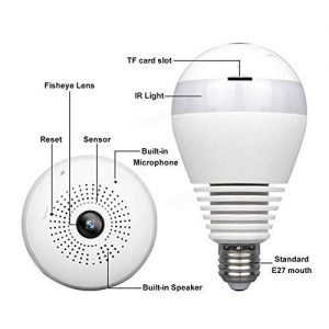 V.T.Eye Panoramic Bulb 360° View Camera with Remote Monitoring