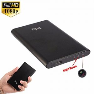 V.T.Eye Security Portable Ultra Thin 1080P H2 Power Bank Spy Camera