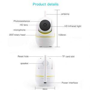 V.T.I. YCC365 Security Surveillance Camer, HD Wireless Mini Smart IP WiFi Camera