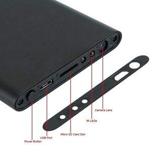 V.T.I Portable Ultra Thin 1080P H2 Power Bank Spy Camera