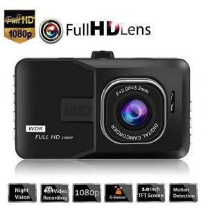 V.T.I. HD 1080p Car Dash Camera, 3 inch LCD Display Screen, 120°Wide Angle Car Camera