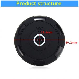 V.T.I. HD Fisheye Panoramic Security Wireless IP Camera – 360° Wide