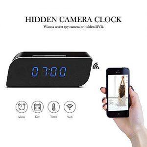 V.T.I. HD WiFi Mini Hidden Alarm Clock Spy Security and Surveillance Camera