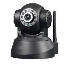 V.T.I.Wireless Indoor CCTV Security Camera Black