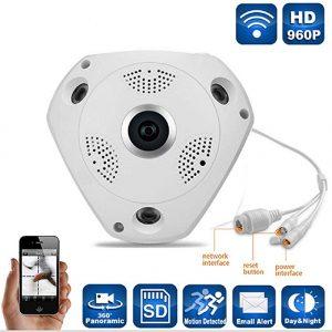V.T.Eye Security 960p Fisheye Panoramic 360° Wireless WiFi HD IP Security Camera