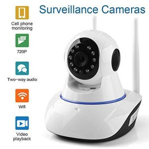 V.T.Eye Security IP Dual Antenna WiFi Enabled Indoor Security Camera with Night Vision