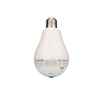 V.T.Eye Security Wireless Panoramic Bulb 360° View IP Camera with Remote Monitoring