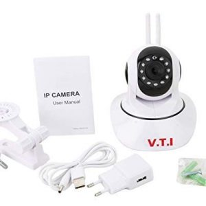V.T.I. Dual Antenna WiFi Enabled Wireless Indoor Security Camera with Night Vision